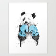 the winner Art Print by Balázs Solti - $14.00