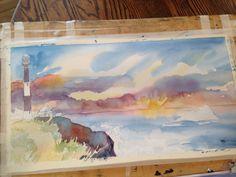 Lighthouse . Art in progress . For Sebastian.