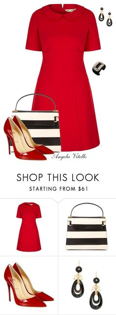 """Untitled #633"" by angela-vitello on Polyvore featuring Yumi, Valentino, Christian Louboutin and Roger Vivier"