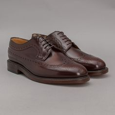 Loake Royal Brogue in Burgundy Polished Leather