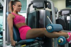 The leg extension isolates the quads.