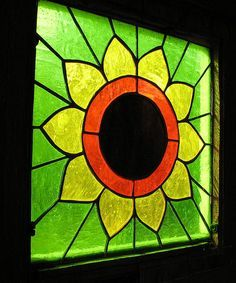 #sunflower #stained #glass #window