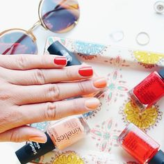 Thanks to our Dear @maddie7l  - Sunset on my nails with the new @kineticsnailsystems RioRio collection  The collection is so beautiful, colorful & a bit wild ✌❤ #kineticsnails #kineticsriorio #kinetics