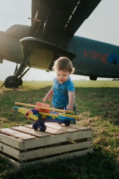 Wooden Plane - Big size in category Wooden vehicles / Wooden Toys Wooden Airplane, Becoming A Pilot, Paint Finishes, Your Child, Wooden Toys, Hand Painted, Big, Children, Vehicles
