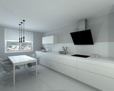 Kitchen Room Design, Interior Design Kitchen, Grey Kitchen Cabinets, Beach House Decor, Home Decor, Blanco Color, Furniture Design, New Homes, Living Room