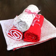 Sew your own terry burp cloths for your infant. You'll need plenty of them for sure!