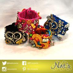 Estoy segura que estos brazaletes llenos de detalles te van a encantar! Y te darán un aire casual y muy cool!!! Nat´s