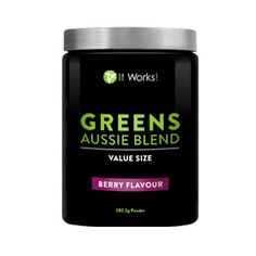 Get even more of your healthy blend of fruits and veggies in this value size, great for sharing with friends and family. Greens helps you stay energized and adds nutrients and a probiotic to your daily diet. - Healthy blend of Fruits and Vegetables in every serving - Probiotic support - Sweet berry flavour - Larger size for three times the Greens