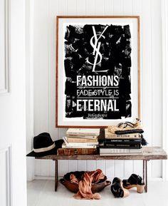 Fashion Poster Fashion Art Fashion Print Yves by BitterMoonStudio