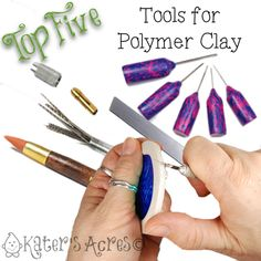 Top 5 Polymer Clay Tools by Ginger Davis Allman, who shares not only her favorites but also how she uses them. Via katersacres.com