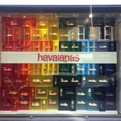 """COLETTE, Paris, France, """"The Magic of the Rainbow"""", for Havaianes, creative by StudioXAG, pinned by Ton van der Veer"""