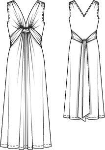 Платье - выкройка № 115 из журнала 2/2013 Burda – выкройки платьев на Burdastyle.ru