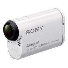 Sony HDR-AS100V - Videocámara deportiva (18.9 Mp,WiFi, GPS, USB), blanco -  #GPS