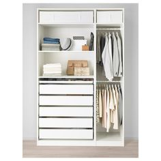 10 Favorite Ikea Pax Wardrobe Hacks from Designers Pax Corner Wardrobe, Ikea Pax Wardrobe, Small Wardrobe, Wardrobe Storage, Wardrobe Design, Wardrobe Closet, Walk In Closet, Small Closets, Ikea White Wardrobe