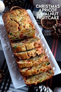 Christmas Apricot and Walnut Fruitcake - Lord Byron's Kitchen Holiday Baking, Christmas Desserts, Fun Desserts, Dessert Recipes, Christmas Fruitcake, Christmas Cakes, Christmas Dishes, Christmas Cooking, Best Fruitcake