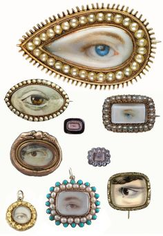 DIY Inspiration: Lover's Eyes' Jewelry at Miss Moss. First seen at Stay Gold here. I loved seeing this inspiration at both sites. If you'd like to make your own DIY Lover's Eyes' piece, I posted this. Eye Jewelry, Jewelry Box, Fashion Jewelry, Gold Jewellery, Couple Jewelry, Jewlery, Women's Fashion, Antique Jewelry, Vintage Jewelry
