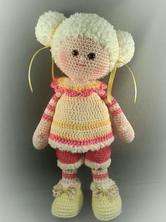 Nice doll. Only inspiration, no pattern