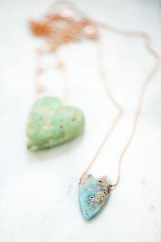 natural gemstone hearts