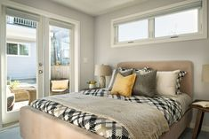 With its bedroom tucked into the lower level, this Vancouver laneway house has plenty of views of the Vancouver cityscape and mountains. Backyard Studio, Little Houses, Vancouver, House Design, Furniture, Bedroom Ideas, Rooms, Home Decor, Bedrooms
