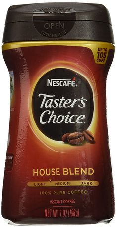 Nescafe Taster's Choice Instant House Blend Coffee, 7 Ounce Canisters (Pack of -- You can find out more details at the link of the image. (This is an affiliate link and I receive a commission for the sales) Tasters Choice, Coffee Label, Nescafe, Blended Coffee, Instant Coffee, Best Coffee, Coffee Beans, Healthy Drinks, Gourmet Recipes