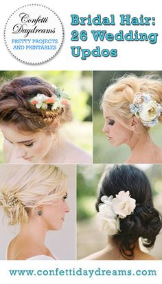 Another 25 Bridal Hairstyles & Wedding Updos | Confetti Daydreams - Enjoy our collection of ANOTHER 25 Bridal Hairstyles and Wedding Updos for gorgeous, cute, and beautiful ideas that you will love!