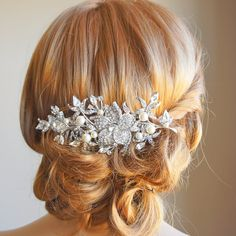 Bridal Hair Comb Wedding Hair Accessories by GlamorousBijoux, $75.00