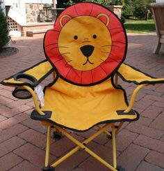 Foldable Lion Childrens Chair | eBay