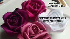 DIY-Como Hacer Rosas Flores en Tela/How To Make Easy Fabric Flower Roses...