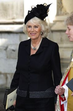 The Duchess of Cornwall, March 13, 2014 | The Royal Hats Blog-at the memorial service for Sir David Frost, March 13, 2014