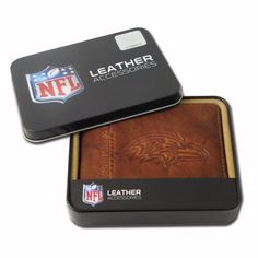 NFL Baltimore Ravens Embossed Passcase by Rico. $19.99. You can store your money, credit cards and important business cards in this Baltimore Ravens embossed billfold wallet from RICO®. The genuine leather wallet holds 4 credit cards and includes a plastic picture insert, so you can show off your favorite pictures from the game! It's elegantly embossed with the team name and logo on the front.
