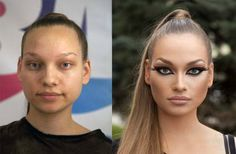 Me-Before-After..The Power of Makeup