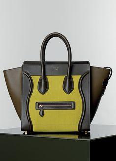 Mini Luggage Handbag Multicolour in Nubuck Calfskin