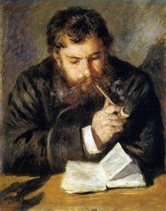 Renoir, Portrait de Claude Monet (Le lecteur), 1872