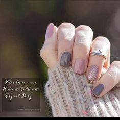 Manchester Mauve Berlin it to win it Tiny and shiny Gorgeous done using Colo - Nail Designs! Get Nails, Pink Nails, How To Do Nails, Hair And Nails, Nail Color Combos, Nail Polish Colors, Happy Nails, Beautiful Nail Designs, Color Street Nails