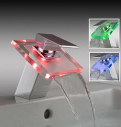 hana lasi neliö LED valolla tuotenro 014