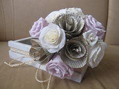 Rustic Bride Bouquet Wedding Crepe Paper Flowers by moniaflowers