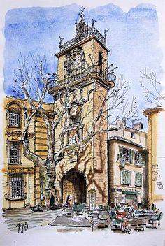 Beffroi de l'hôtel de ville, Aix-en-Provence | Flickr - Photo Sharing!