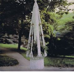 Macrame Plant Hanger PDF Pattern by KnottingToDo on Etsy Macrame Plant Hanger Patterns, Macrame Plant Hangers, Macrame Patterns, Pot Hanger, Hanging Table, Hanging Shelves, Macrame Projects, Crochet Projects, Macrame Design