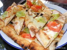 #Turkish food - Vegeatrian #pide. We're not vegetarian but this one was yummy! :)