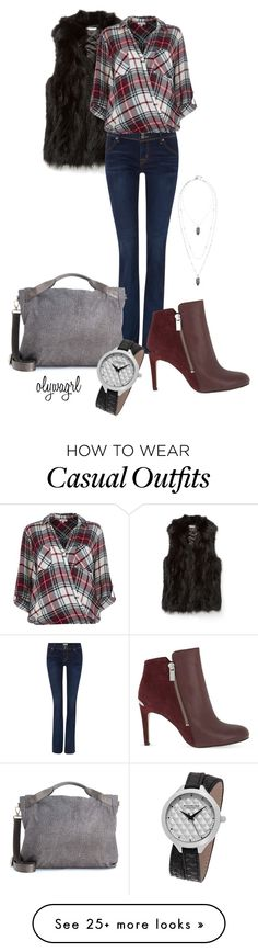 """""""Plaid Casual"""" by olywagrl on Polyvore featuring Rebecca Minkoff, Hudson Jeans, River Island, MICHAEL Michael Kors, Borbonese, Stella & Dot and Stührling"""