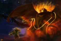 Glorfindel and Balrog by moumou38 on deviantart