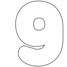 It's As Easy As 1-2-3 To Use Our Free Printable Numbers Digital Stamps: Printable Number 9