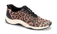 Vionic Action Tourney - Womens Active Shoes Grey Leopard - 8.5