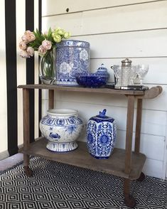 Outdoor bar cart styling