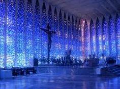 absolutely breathtaking - Dom Bosco Cathedral in Brasilia, Brazil