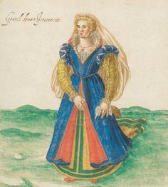 Gentil donna Fiorentina [Costumes italiens, grecs et turcs, Italien, 1580]