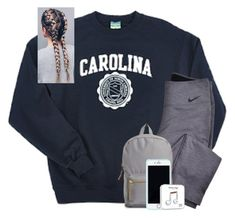 """i NEED a bio"" by hhaileyyyy ❤ liked on Polyvore featuring Champion, NIKE, Herschel Supply Co. and Lilly Pulitzer"