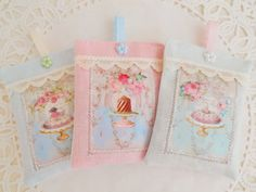 Set Of Three Shabby & Chic Style Lavender Drawer Sachets by picocrafts on Etsy