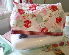 Cherry Heart: sewing machine cover