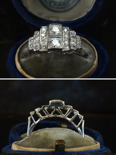 Lovely Antique Engagement Rings at Erie Basin in Brooklyn | pressedinbrooklyn